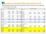 design a non tiered tou rate similar to e 6
