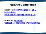 rbern conference