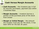 cash versus margin accounts