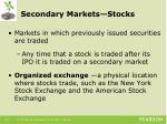 secondary markets stocks