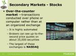 secondary markets stocks1
