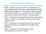 key performance indicators 20698 support to new teachers and principals