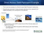 direct access debit participant example