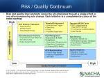 risk quality continuum