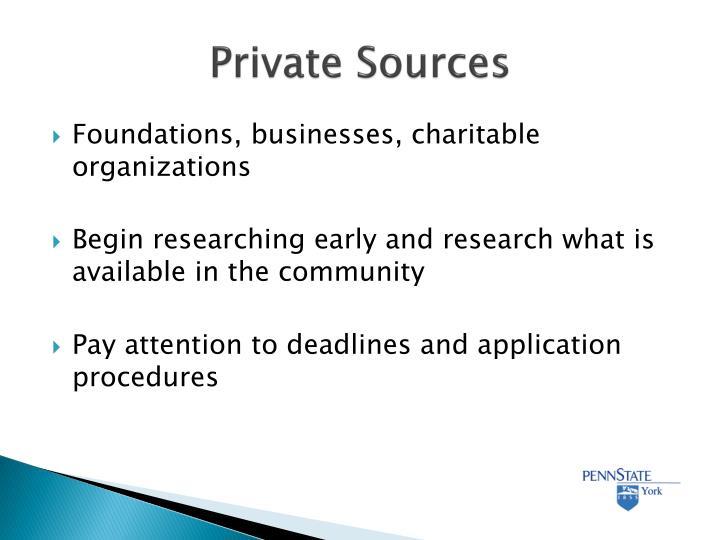 Private Sources