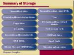 summary of storage
