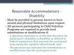 reasonable accommodations disability