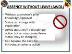 absence without leave awol