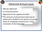 advanced annual leave