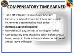 compensatory time earned
