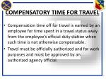 compensatory time for travel