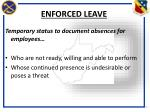 enforced leave