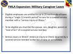 fmla expansion military caregiver leave