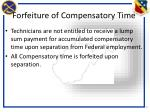 forfeiture of compensatory time
