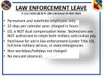 law enforcement leave 5 u s c 6323 b pl 108 136 dated 24 nov 2003