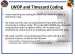 lwop and timecard coding