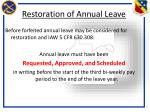 restoration of annual leave1