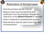 restoration of annual leave2
