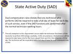 state active duty sad1