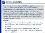 inventory example