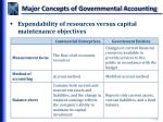 major concepts of governmental accounting2