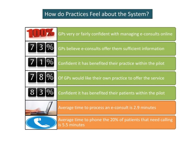 How do Practices Feel about the System?