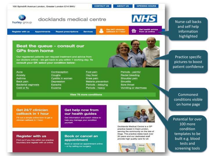 Nurse call backs and self help information highlighted