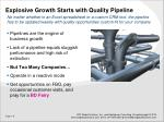explosive growth starts with quality pipeline