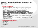 keys to a successful business intelligence bi program