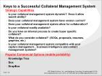 keys to a successful collateral management system