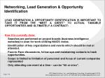 networking lead generation opportunity identification