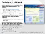 technique 12 network