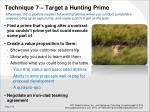 technique 7 target a hunting prime