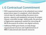 l g contractual commitment