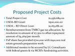 proposed project costs