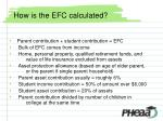 how is the efc calculated