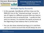 multiple equity accounts1