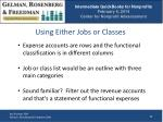 using either jobs or classes