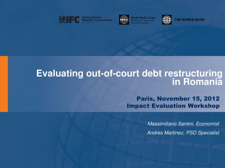 evaluating out of court debt restructuring in romania n.