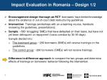impact evaluation in romania design 1 2