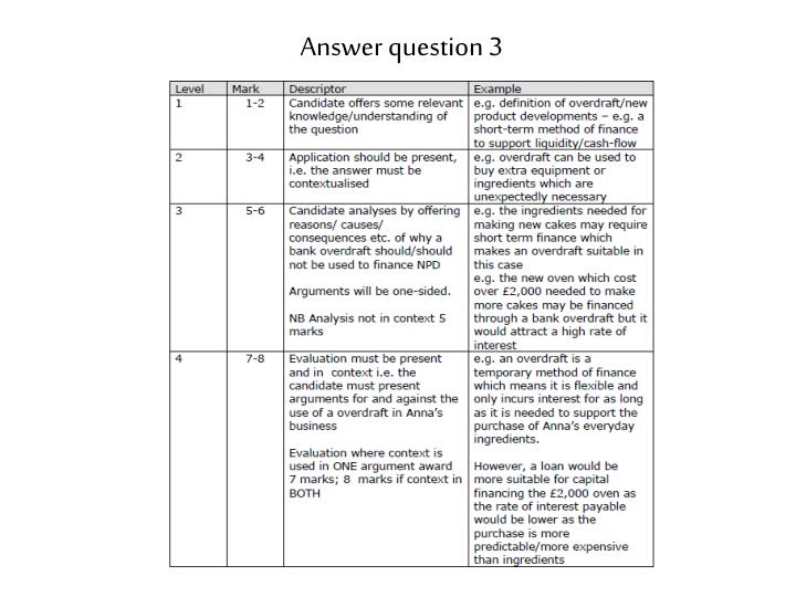 Answer question 3