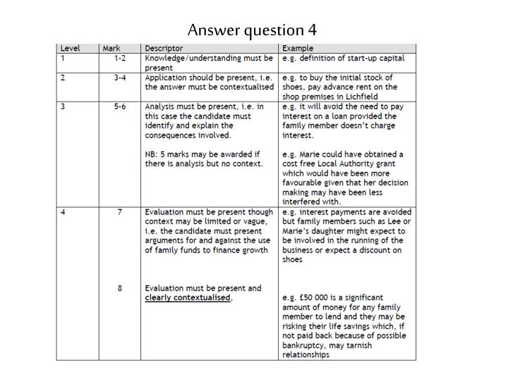 Answer question 4