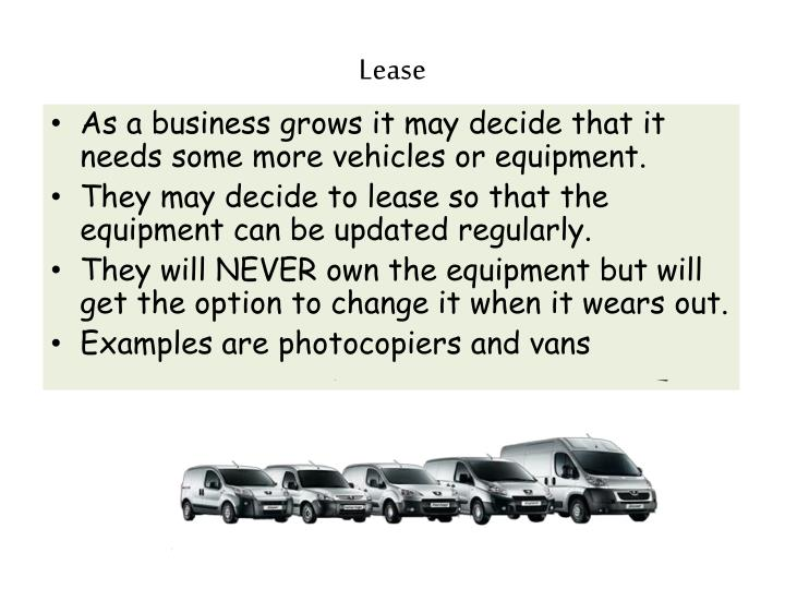 Lease