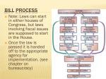 bill process
