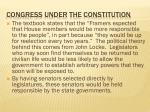 congress under the constitution