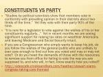 constituents vs party