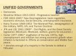 unified governments