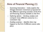 aims of financial planning 1