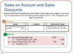 sales on account and sales discounts1