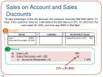 sales on account and sales discounts2